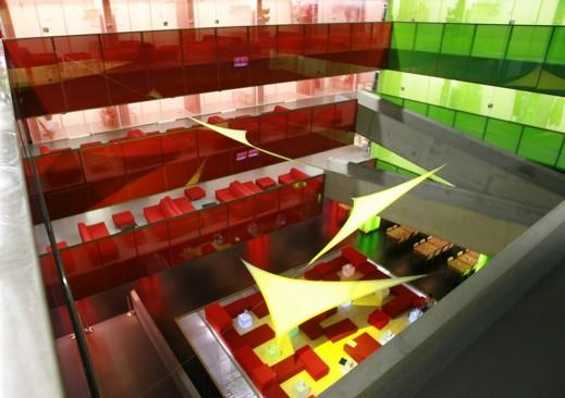 cube hotel atrium indoor