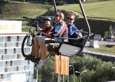 cube hotel chairlift summer bike
