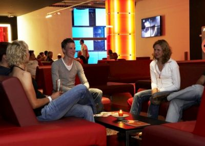 cube hotel lounge lobby guests chill out