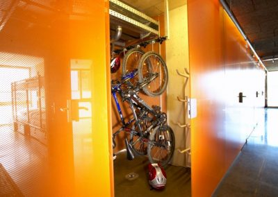 CUBE hotelmountainbike storage showroom