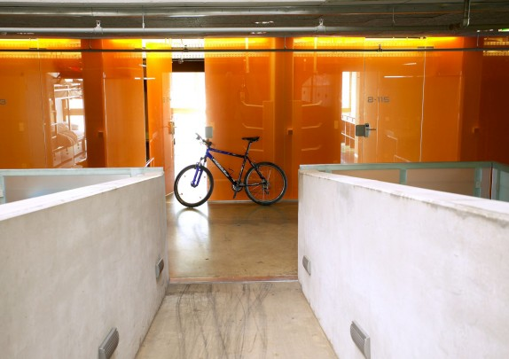cube hotel ramps showroom mountainbike