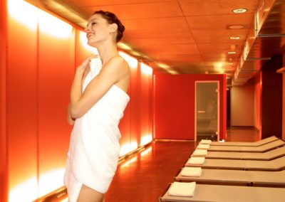 cube hotel relax area sauna