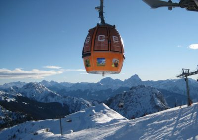 cube hotel winter cable car orange branded