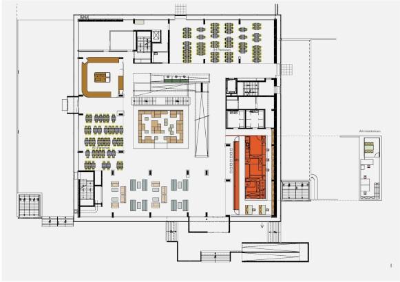 cube hotel plan groundfloor